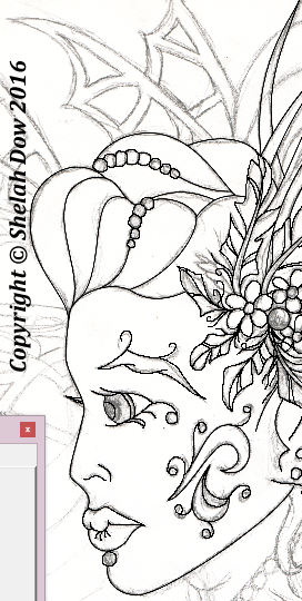 ShelahDow-FairyColoringBook-PreviewFairy-ArtbyShelah