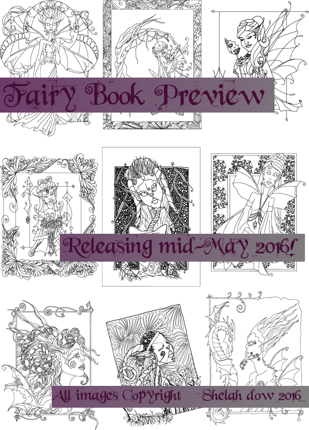 ColoringBookPreview-Fairies-ShelahDow-Artbyshelah